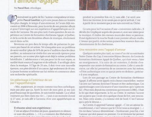 Article de Pascal Huot dans Pastorale Québec