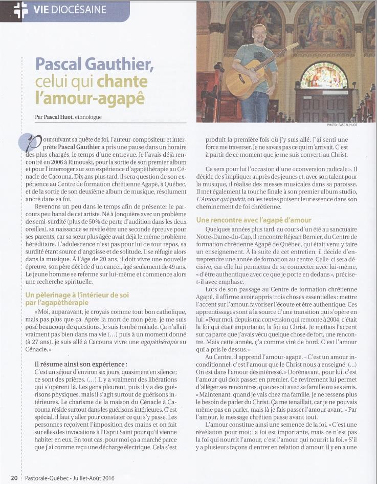 Article de Pascal Huot Pastorale Qubec page 1
